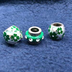 Brighton Irish green charms